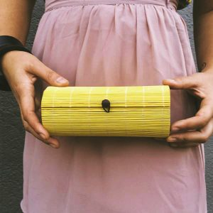 Sarobey Clothing Clutch Bamboo Yellow