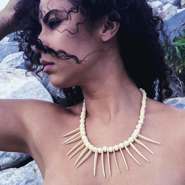 Sarobey Clothing Neckalce Bone Spikes
