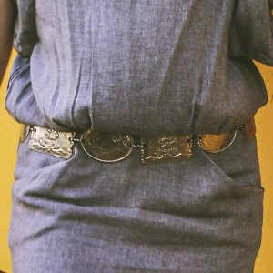 Sarobey Clothing Belt Metal Ovals