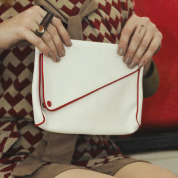 Sarobey Clothing Clutch Leather White