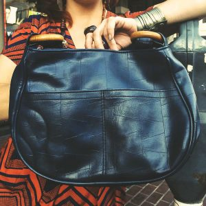 Sarobey Clothing Purse Leather Blue