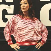 Sarobey Clothing Top Polka Dots Red
