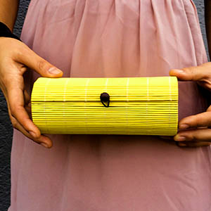 Sarobey Clothing Apparel & Culture Clutch Bamboo Yellow