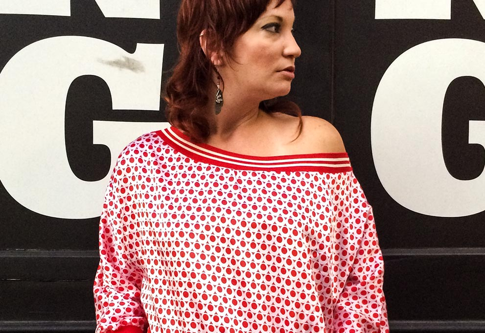 Sarobey Clothing Apparel & Culture Top Polka Dots Red