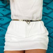 Sarobey Clothing Apparel and Culture Belt PE Silver